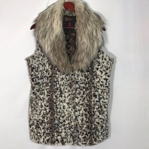 Adrienne Landau Faux Fur Sleeveless Vest